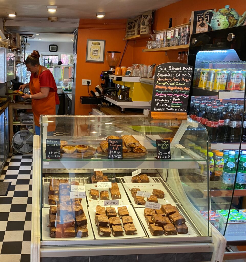 7a coffee shop fairford counter